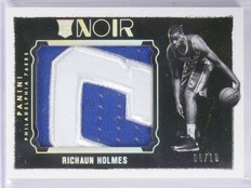 2015-16 Panini Noir Rookie Patches Richaun Holmes Jumbo Patch #D08/10 #35 *57666