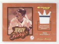 2002 Donruss Jersey Kings Studio Series Don Mattingly #D04/25 #JK13 *58577