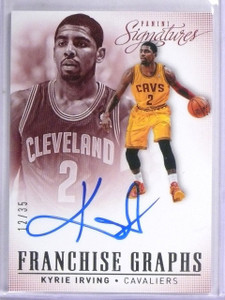 2013-14 Panini Signatures Franchise Graphs Kyrie Irving Autograph #D12/35 *57683