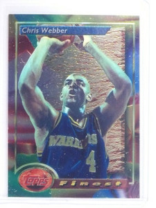 1993-94 Topps Finest Chris Webber Rookie RC #212 *64532