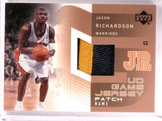 2002-03 Upper Deck Jason Richardson UD Game Jersey Patch Name #JRPN *55572