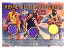 2006-07 Topps Pride of the Program Jersey Kobe Bryant Bynum Worthy #22/25 *55380