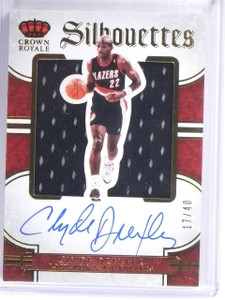 2015-16 Preferred Silhouettes Clyde Drexler Jersey Autograph #D17/40 #62 *57558