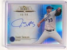 2014 Topps Tribute James Shields Autograph Auto Blue #d03/50 #TA-JSH *44848