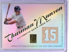 2001 Topps Tribute Authentic Retired Numbers Thurman Munson Bat #RBTM *58287