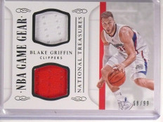 2014-15 National Treasures Blake Griffin Dual Jersey NBA Gear #D68/99 *53688