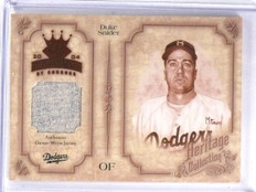 2004 Donruss Diamond Kings Heritage Collection Duke Snider Jersey #D10/10  *5824