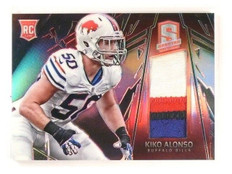 2013 Panini Spectra Kiko Alonso Rookie RC Jersey Patch Materials Red #d08/25 *44