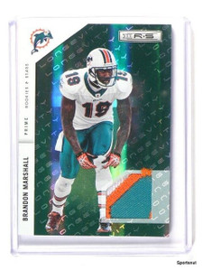 2011 Panini R&S Longevity Brandon Marshall Emerald Prime 3cl Patch #d16/99 *4425
