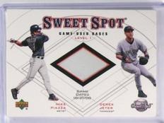 2001 Upper Deck Sweet Sot Game Used Base Derek Jeter Mike Piazza #B1JP *58190