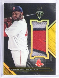2016 Topps Triple Threads Gold Unity Jumbo Pablo Sandoval 3clr Patch #D4/9 *5763