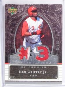 2007 Upper Deck Premier Patches Dual Ken Griffey Jr Jersey Patch #D04/75 *57635