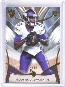 2014 Topps Supreme Sepia Teddy Bridgewater rc rookie #D14/50 #57 *49592