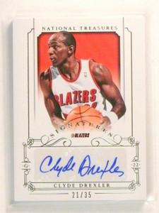13-14 National Treasures Signatures Clyde Drexler autograph auto #D21/35 *44739