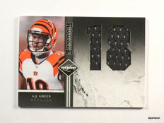 2011 Leaf Limited A.J. Green jumbo jersey rc rookie #D43/49 #5 *43742
