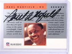1991 Pro Line Portraits Paul Warfield Autograph auto *64527