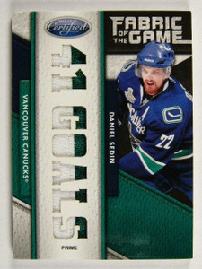 11-12 Certified Fabric of the Game Daniel Sedin 2clr patch #D3/5 *31722