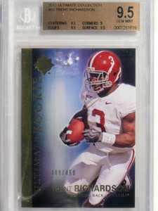 2012 Ultimate Collection Trent Richardson rc rookie #D389/450 #59 BGS 9.5 *41707