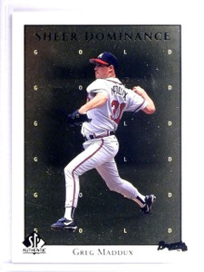 1998 UD SP Authentic Sheer Dominance Gold Greg maddux #D0150/2000 #SD31 *62998