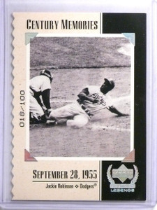 1999 Upper Deck Century Legends Collection Jackie Robinson #D018/100 #132 *63518