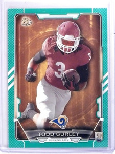 2015 Bowman Green Todd Gurley Rookie rc #D74/99 #28 *59576