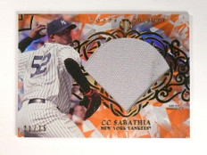 2015 Topps Tribute Orange C.C. Sabathia jersey #D21/75 #DC-CC *51973