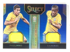2015 Select Paulinho Ramires Jersey Double Team Blue #D83/99 #DTPR *53099