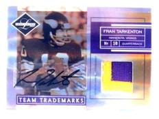2007 Leaf Limited Trademarks Fran Tarkenton autograph auto patch #D02/15 *67649