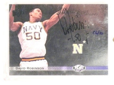 2011 Upper Deck All-Time Greats Illustrious David Robinson autograph #D6/10 *447