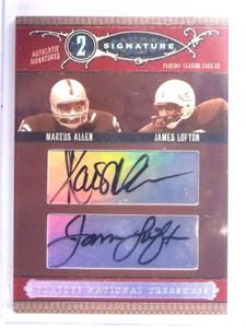 2006 National Treasures Combos Marcus Allen & James Lofton autograph #/25 *67653