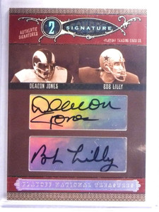 2006 National Treasures Combos Deacon Jones & Bob Lilly autograph #D11/25 *67655