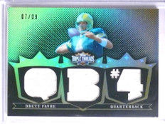 2007 Topps Triple Threads Gold Brett Favre jersey #D7/9 #TTR72 *67687