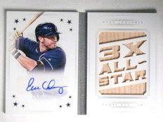 2016 National Treasures Stars Evan Longoria autograph bat book #D01/10 *67720