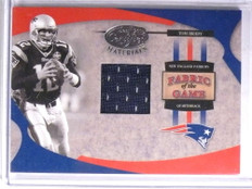 2005 Leaf Certified Fabric Of The Game Tom Brady jersey #D15/100 #FG-75 *67743
