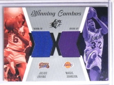 2003-04 SPX Winning Combos Julius Erving & Magic Johnson warm-up jersey *67758