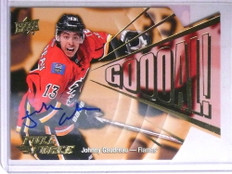 2015-16 Upper Deck Full Force GOOOAL! Johnny Gaudreau autograph *67769