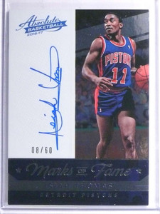 2016-17 Absolute Marks Of Fame Isiah Thomas autograph auto #D08/60 *67790