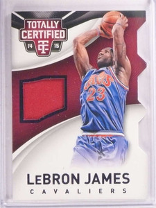 2014-15 Panini Totally Certified Diecut Lebron James jersey #D64/99 #53 *67809