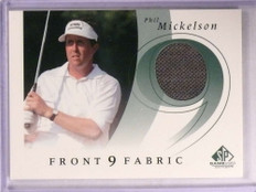 2002 Sp Game Used Front 9 Fabrics Phil Mickelson shirt #F9S-PM *67813