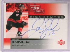 2002-03 Upper Deck Top Shelf Signatures Jarome Iginla autograph auto *67819
