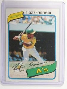 1980 Topps Rickey Henderson rc rookie #482 NM *47400