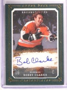 2008-09 Upper Deck Masterpieces Brushstrokes Bobby Clarke autograph /35 *67829