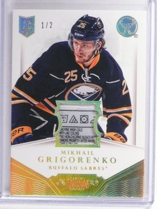 13-14 Panini Dominion Mikhail Grigorenko tag patch rc rookie #D1/2 *49301