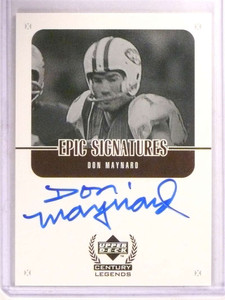 1999 Upper Deck Century Legends Epic Don Maynard autograph auto *67855