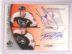 2005-06 Sp Authentic Sign Times Keith Primeau & Mike Richards autograph *67930
