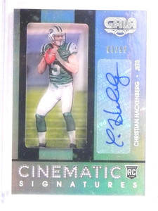 2016 Panini Gala Cinematic Christian Hackenberg autograph rc #D09/99 *67947
