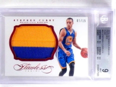2013-14 Flawless Patches Ruby Stephen Curry 2clr patch #D1/15 BGS 9 *67990