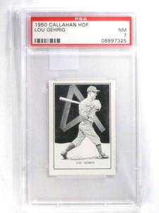 1950 Callahan HOF Lou Gehrig PSA 7 NM *68006