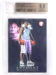 2003-04 Topps Pristine Refractor Carmelo Anthony rc rookie #D/149 BGS 9.5 *68017