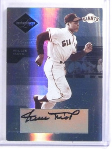2005 Leaf Limited Monikers Willie Mays autograph auto #D06/25 #151 *68030